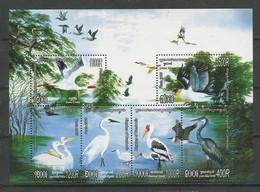 CAMBODGE 2005 Bloc N° 195A ** Neuf MNH Superbe Faune Oiseaux Aquatiques Birds Aigrette Héron Pélican Grue Animaux - Cambogia
