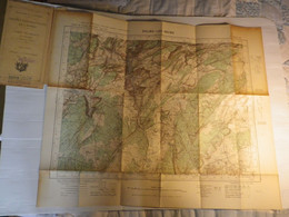 SALINS LES BAINS - XXXIII 25 - CARTE DE FRANC TYPE 1922 - MINISTERE DE LA GUERRE - SERVICE GEOGRAPHIQUE DE L' ARMEE 1936 - Mapas Geográficas
