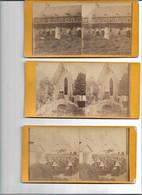 13 05 G//  BEGIJNHOF??  KLOOSTERZUSTERS Op Achterkant: 'EECLOO  JARDIN DE MR LIPPENS    5X - Stereoscope Cards