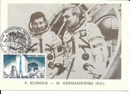 ESPACE FRANCE 1979  LE BOURGET SALON AERONAUTIQUE CARTE  P. KLIMOUK - M. GERMASZEWSKI (POL) - Europe