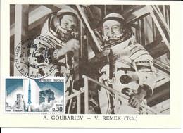 ESPACE FRANCE 1979  LE BOURGET SALON AERONAUTIQUE CARTE  A. GOUBARIEV - V. REMEK (TCH) - Europe