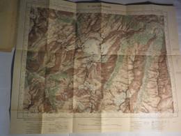 Ste FOY TARENTAISE - XXXVI 32- CARTE TYPE 1922 - MINISTERE DE LA GUERRE - SERVICE GEOGRAPHIQUE DE L' ARMEE 1934 - Mapas Geográficas
