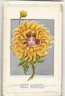 CPA,Th.Fleurs , Best Wishes , Carte Américaine Ed. 1910 - Flowers