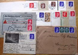 DR Hitler Lot Mit 36 Briefen/Karten Gelaufen Meist EF Und MIF - Brieven