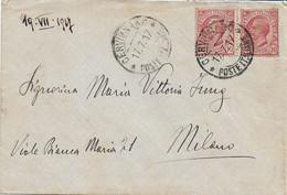 REGNO - FRIULI VENEZIA GIULIA LIBERATO   - BUSTA  ANNULLO CERVIGNANO POSTE ITALIANE 17.07.1917 - G72 - Marcofilie