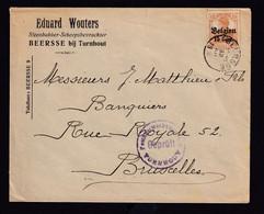 DDAA 058 - Enveloppe TP Germania BEERSSE 1916 - Entete Wouters , Steenbakker à BEERSSE - Censure TURNHOUT - [OC1/25] Gen. Gouv.