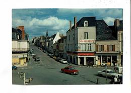 36 - ARGENTON Sur CREUSE - La Place, Solex, Simca, 2 CV, Citroen, Publicité Kronenbourg - 934 - Andere Gemeenten
