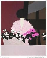 "André Vigud ""Fiori Rosa"" Litografia A Colori - Cm.55x38 - Litografía"