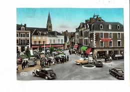 36 - ARGENTON Sur CREUSE - La Place, Traction, 2 CV, Citroen, Publicité La Slavia - 935 - Otros Municipios