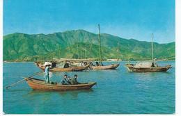 Hong Kong Postcard Ship Mail Slogan. Tai Po. Slightly Larger Format 1963 With Stamps - China (Hong Kong)