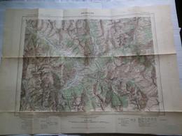BRIANÇON - XXXV 36 - CARTE DE FRANCE TYPE 1922 - MINISTERE DE LA GUERRE - SERVICE GEOGRAPHIQUE DE L' ARMEE 1930 - Mapas Geográficas