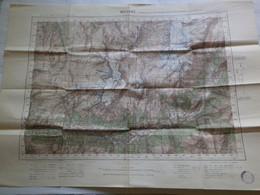 MODANE - XXXV 34 - CARTE DE FRANCE TYPE 1922 - MINISTERE DE LA GUERRE - SERVICE GEOGRAPHIQUE DE L' ARMEE 1929 - Mapas Geográficas
