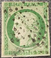 Cérès  N° 2b  Avec Oblitération Etoile, Timbre Abimé Mal Réparé, Voir Photo. - 1849-1850 Ceres