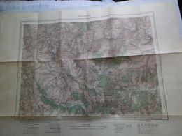 NEVACHE - XXXV 35 - CARTE DE FRANCE TYPE 1922 - MINISTERE DE LA GUERRE - SERVICE GEOGRAPHIQUE DE L' ARMEE 1928 - Mapas Geográficas