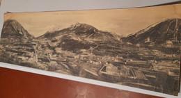 ##R Ancien Panorama LES ALPES , BRIANCON , VUE PANORAMIQUE & LES FORTS 71 X 23 Cm - Repro's