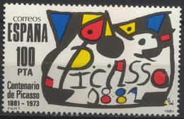 España, 1981, Homenaje A Pablo Ruiz Picasso De Joan Mirò, 100 P., MNH** - 1981-90 Unused Stamps