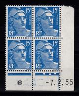 Coin Daté - YV 886 N** Gandon Coin Daté Du 7.2.55 , 3 Points - 1950-1959