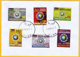 SOUTH SUDAN 2020 Covid-19 Stamp Set Cancelled On Cover Health Workers Fighting Covid-19 Pandemic SOUDAN Du Sud - Zuid-Soedan
