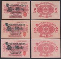 Darlehnskassenschein 3 Stück á 2 MARK 1914 Ro 52c  AXF (2-) (26162 - Unclassified