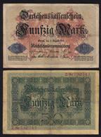 Darlehnskassenschein 50 MARK 1914 Ro 50a F (4) 6-stellig Serie Z    (26168 - Unclassified