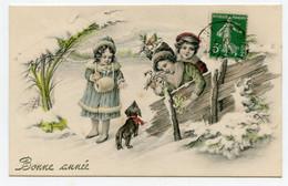 Vienne. M.M. Enfants Dans Un Paysage De Neige Avec Petit Chien Teckel.dachshund Dog - Vienne