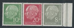 Bund Heuss Zusammendruck Michel Nummer W22x Postfrisch - Zusammendrucke