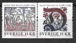 2008Sweden2670-2671Paar300 Years Of Olof Van Dalen - Neufs