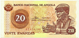 Angola - 20 Kwanzas - 11.11.1976 - Pick 109 - Série AZ - Agostinho Neto - Angola
