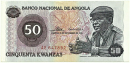 Angola - 50 Kwanzas - 11.11.1976 - Pick 110 - Série AE - Camarada Dr. Agostinho Neto - Angola