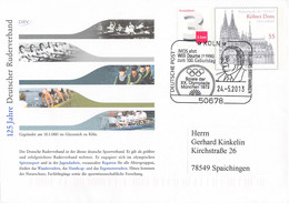 Germany Postal Stationary Kölner Dom W/print 2008 125 Jahre Deutscher Ruderverband Posted Köln 2013 (DD25-18) - Rowing