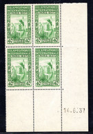 ALGÉRIE YT-N°: 127 - Exposition Internationale De Paris, Coin Daté Du 14.06.1937, 1er Tirage, NSC/**/MNH - Ungebraucht