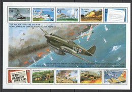 PK225 GAMBIA MILITARY & WAR PEARL HARBOR BATTLE OF MIDWAY 1SH MNH - WW2