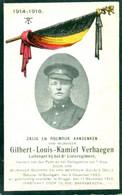 WO1 / WW1 - Doodsprentje Gilbert Verhaegen - Balegem / Brugge  - Gesneuvelde - Avvisi Di Necrologio