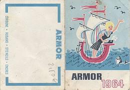 X111236 CALENDRIER DE PORTEFEUILLE ? DE POCHE ? CARBONE ENCRES STENCILS RUBANS ARMOR DE 1964 - Petit Format : 1961-70