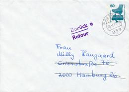 PASSAU 1  -  1977  ,   Unfallverhütung   -  Privatumschlag  PU 58 / 3  -  Nach Hamburg , Mit Retour-Stempel - Privatumschläge - Gebraucht