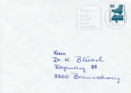 PASSAU 1  -  1977  ,   Unfallverhütung   -  Privatumschlag  PU 58 / 3  -  Fluor-Balken Im Wertstempel - Privatumschläge - Gebraucht
