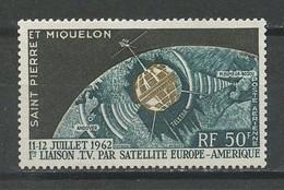 SPM MIQUELON PA N° 29 * Neuf MH Infime Trace De Charnière C 8 € Espace Space Communications Télécommunications Spatiales - Neufs