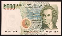 5000 LIRE BELLINI SERIE SOSTITUTIVA XC 1992 Sup Raro NON TRATTATO LOTTO 2265 - 5000 Liras
