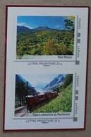 LFV3 Rhône-Alpes : Mont Mézenc  &  Train à Crémaillère Du Montenvers (autocollants  / Autoadhésifs) - Autoadesivi
