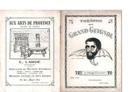 Programme THEATRE DU GRAND GUIGNOL 1920/1930 La Salpêtrière André DE-LORDE - Programs