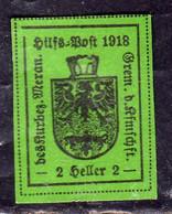 MERANO 1918 HELLER 2h VERDE NG SENZA GOMMA - Merano