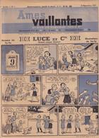 Ames Vaillantes - 1re Année - N° 1 - 8 Décembre 1937 - Luce Et Cie - Histoire De Ty-Ya - Illustrations De Ya-Ty - Rare - Prime Copie