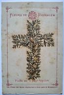 Image Pieuse Reliquaire - Fleurs De Jérusalem Posées Sur Le Saint Sépulture -  BE - Andachtsbilder