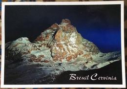 Breuil  CERVINIA Il M. Cervino Illuminato In Occasione Del Nuovo Millennio / Foto Sebastiano Todesco - Other Cities