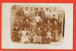 Ph080 ⭐ Carte-Photo 1910s Famille ? Groupe 27 Membres Femmes Hommes Enfants - Fotografie