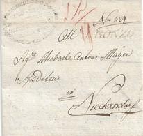 PREFILATELICA DA AURONZO DI CADORE PER NIEDERNDORF 1833 - SEGNI DI TASSA  - G31 - ...-1850 Voorfilatelie