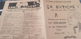 CHANSON SOCIALE/RENE DORIN CA BITCHE LETTRE D UN SOLDAT EN MANOEUVRES - Scores & Partitions