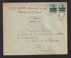 DDAA 068 - LA GAUME - Enveloppe TP Germania ST MARD 1916 - Censure VIRTON - Expéd. Achille Laurant - [OC1/25] Gen. Gouv.