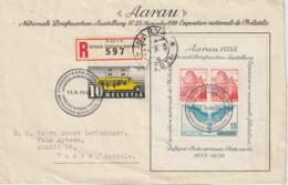Schweiz MNr. Bl. 4 FDC Auf R-Brief Nach Estland - Covers & Documents