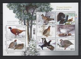 UKRAINE 2021 Mi Block 176A(1975A-1982A) Birds Of Ukraine. Chicken-like / Vögel Der Ukraine. Hühnchen-ähnlich **/MNH - Andere